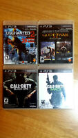 Black Ops 2, Modern Warfare 3, Uncharted 2, PS3 mint games