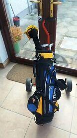 Junior Golf clubs, bag & trolley