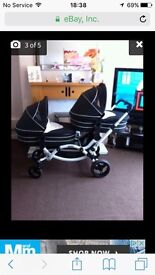 Twin pram and buggy
