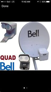 3 Bell HD satellites with mounts and dual LNBs