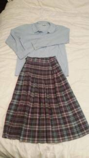 St Clare's school uniform - winter skirt and junior shirt Turner North Canberra Preview