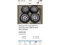 Genuine VW mk4 Golf gti / bora Montreal BBS 16in alloy wheels