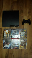 PS3 with 6 games for sale
