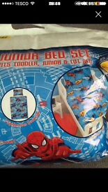 My first bed. SPIDERMAN set