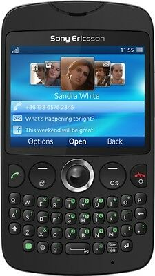 Sony Ericsson txt CK13i Black Unlocked full keyboard,WiFi Quadband GSM Cellphone for sale  Shipping to India