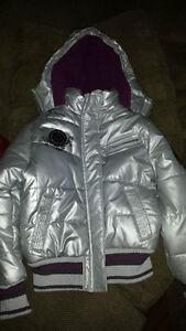 metallic look winter jacket