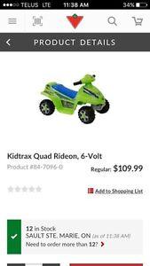 6v ride on 4 wheeler