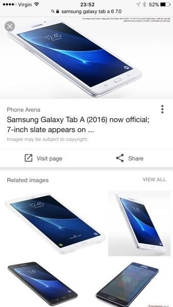 Samsung galaxy tablet A 6...