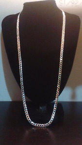 "26""5mm .925 silver curb chain REGULAR $180"