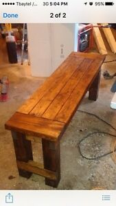 Farmhouse bench - custom built to size