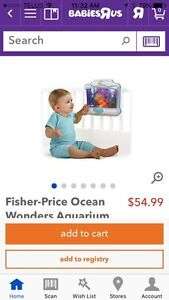 Ocean Aquarium Fisher Price Baby Crib Edmonton Edmonton Area image 2