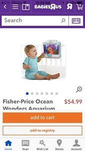 Ocean Aquarium Fisher Price Baby Crib Edmonton Edmonton Area image 2