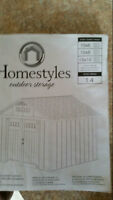 Homestyles Deluxe 10 x 8 Vinyl Storage Shed only 6 months old