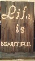 Rustic Sign made from pallets
