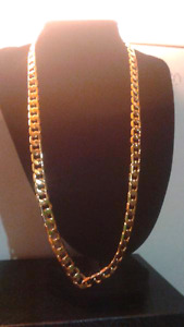 "24""10mm goldfilled curb chain"