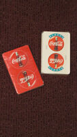 2 unused playing card decks - Coca-Cola - from Europe