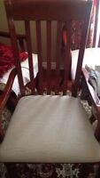 Real wooden chairs 4 piece