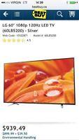 TÉLÉVISION 60''LG ULTRA SLIM LED FULL HD 1080P 120HZ 639$$