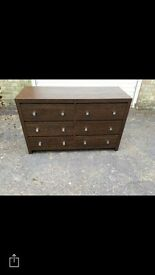 6 drawer chest, bedroom cabinet