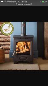 Arrow ecoburn 5kw Stratford multi fuel stove ex showroom model used 5-6 times