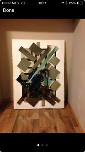 Large modern mirror art piece