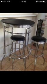 Sold - Bar/Bistro table with 2 stools