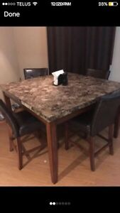 Granite dining room table. High top bar top  Cambridge Kitchener Area image 2