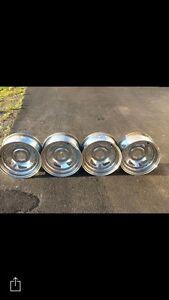 Four chrome wheels