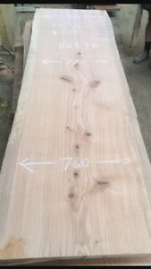 """42"""" wide pine slabs @ 7.5 ' long 3"""" thick"""