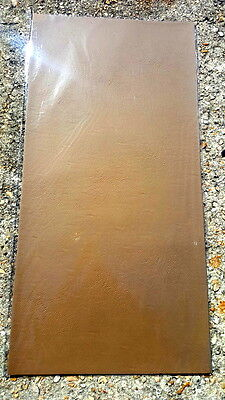 "12"" x 24"" Brown Custom Cut .045"" Soft Leather Suede Sheet Stock DIY Craft Use"