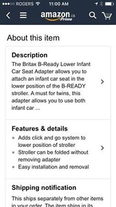 Britax lower infant seat adapter for b ready stroller London Ontario image 8