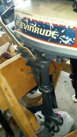 Evinrude 2 hp 2 stroke outboard motor with top tank