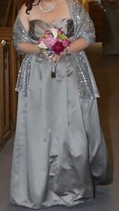 Prom/Bridesmaid Dress From David's Bridal in Mercury - Size 16