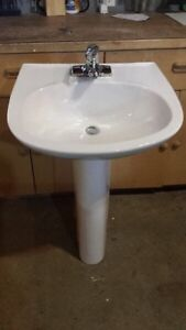 pedestal sink with faucet $60. Airdrie