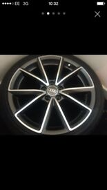"18"" Rs4 Style Alloys With Tyres Audi 5 x 112"