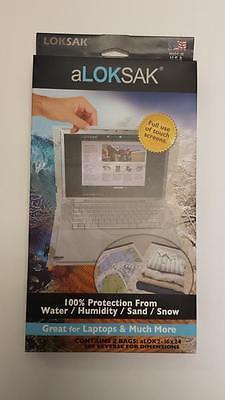 Aloksak Waterproof Bags - 2 Aloksak 16x24 Waterproof Sandproof Airtight Pouch Bags LOKSAK