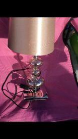 Creamy beige glass lamp