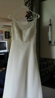 Beautiful Ivory Strap Beaded Dress and Set (Shoes, Shawl, Veil)
