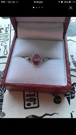 Pink diamond stone ring!