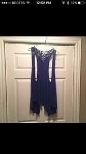 Sleeveless Blue Cardigan