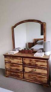 Vintage Distressed Timber Dresser Tallboy Drawers W Mirror Coogee Eastern Suburbs Preview