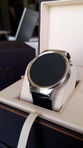 Huawei Watch W1 Leather Android iOS watch, Bluetooth, wifi, Calls Footscray Maribyrnong Area Preview