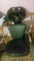 Shampoo sink/chair and blow dryer/chair