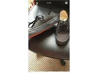 Black vans in a good condition size 4