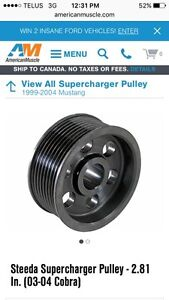 New steeda supercharger pulley