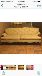 NEWLY  RE-UPHOLSTERED COUCH   Windsor Region Ontario image 3