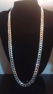 "24""7mm .925 silver curb chain REGULAR $325"