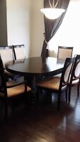 ***PRICE REDUCED*** 6 Chairs Dining Table Set (w/Hutch & Buffet)