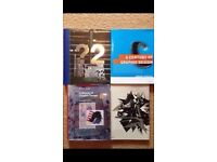 6 graphic design books plus 4 issues of design magazine baseline. Bundle deal