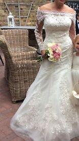 Ronald Joyce Wedding Dress Eugenia 69066 Size 12